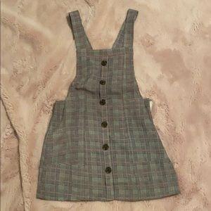 Plaid overalls dress from LF (brand: seek)